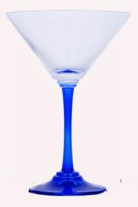 Blåt Martiniglas